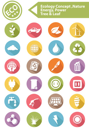 Ecology,Nature,Ener gy Icons,Colorful version,vector Vector