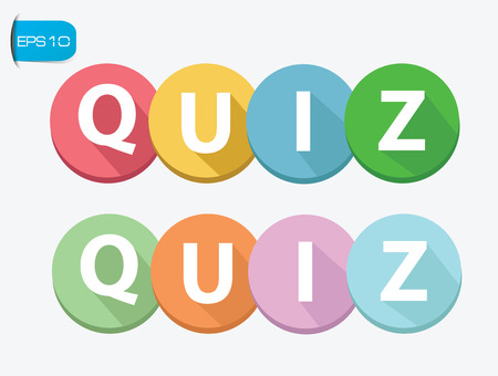 Quiz buttons on white background Vector