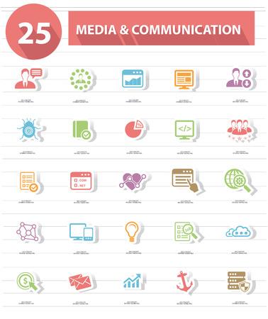 optimizing: 25 Media   Communication icons