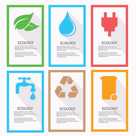Ecology banner,vector Vector