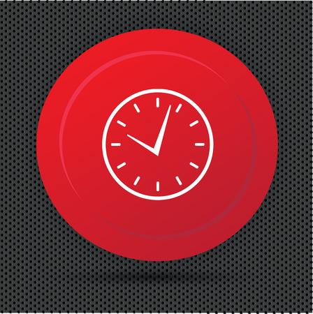 Clock button,vector Vector