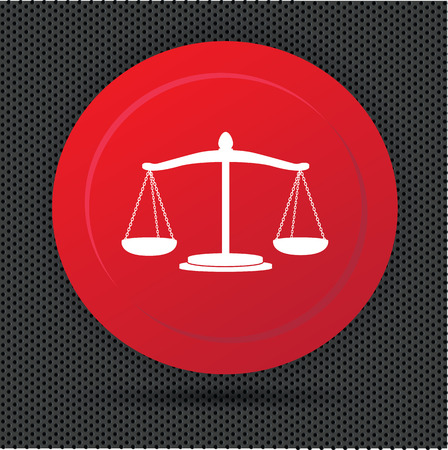 scale of justice: Justice scale button,vector Illustration