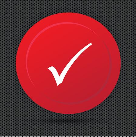 Check mark button,vector Vector