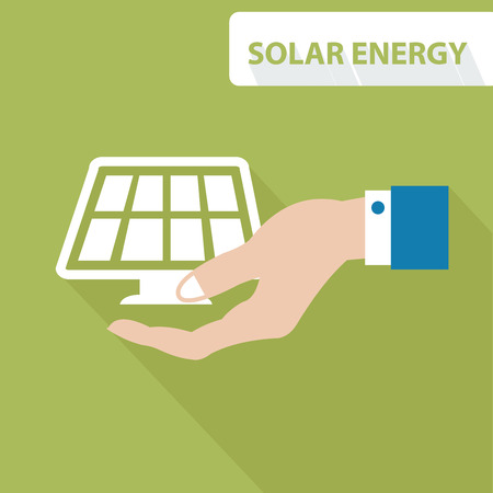 energy supply: Solar energy concept,vector