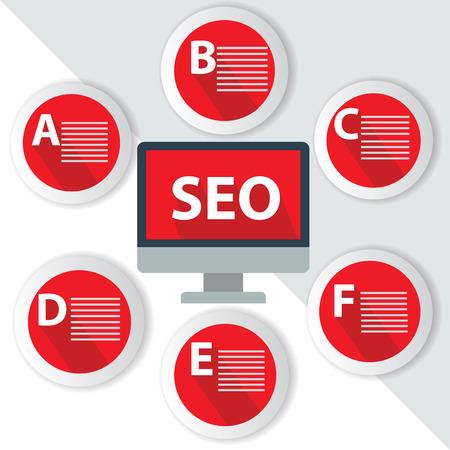 SEO Infographics,for text,Red vector Vector