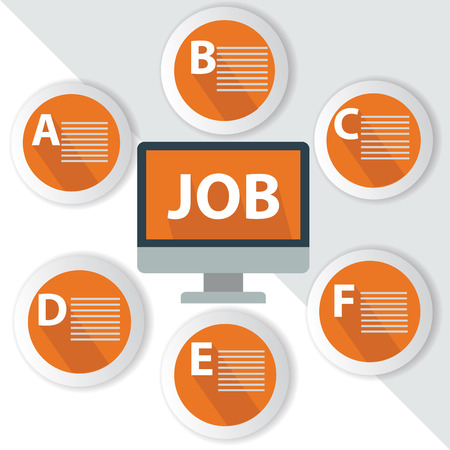 Job Infographics,for text,Orange vector Vector