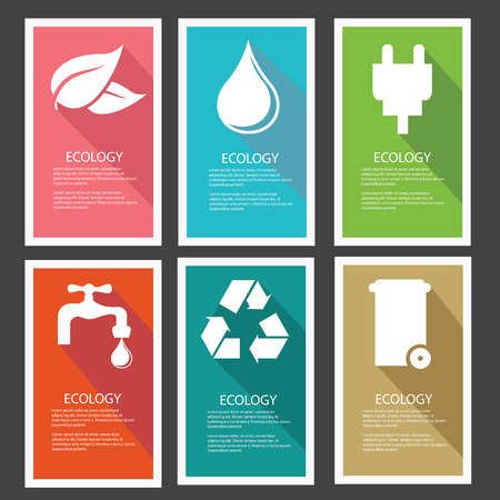 Ecology banner,Colorful version,vector Vector