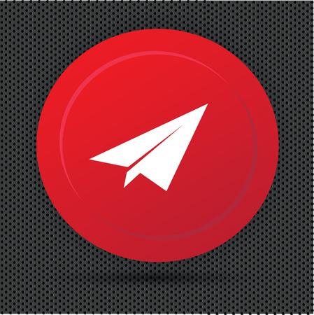 Rocket button,vector Vector