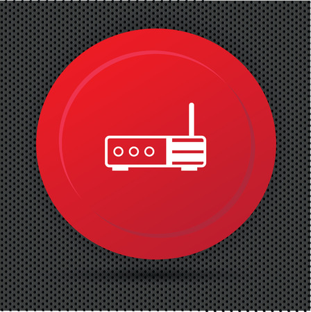 isdn: Router button,vector