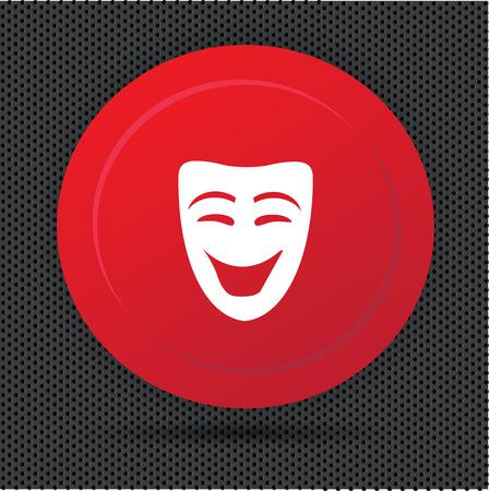 Mask button,vector
