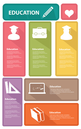 Education banners,Colorful version,vector Vector