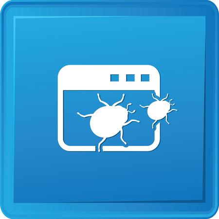 bacteriophage: Bug software symbol,vector Illustration