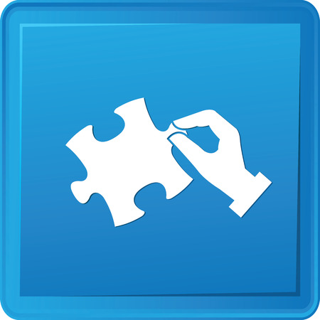 Puzzle symbol,vector Vector