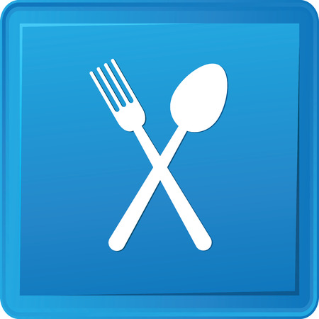 Spoon button,vector Vector