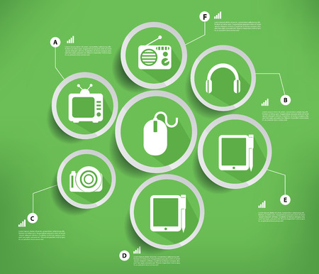 Media   Technology,Green version,vector Vector