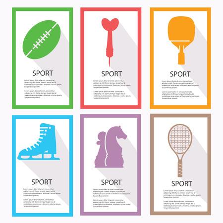 hurl: Sport banners,vector Illustration