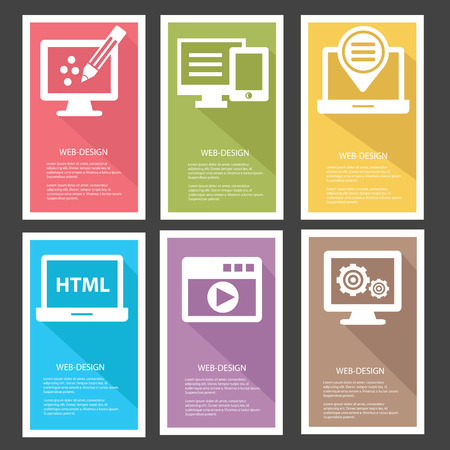 Web design Banners,Colorful version,vector Vector