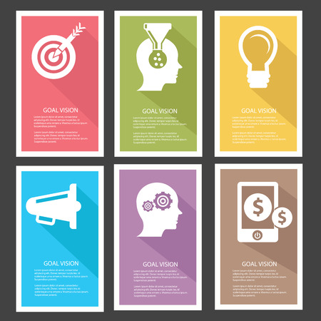 Goal management Banners,Colorful version,vector Vector
