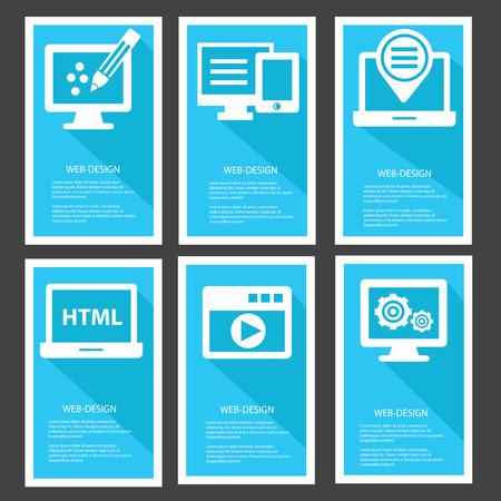 Web design Banners,Blue version Vector