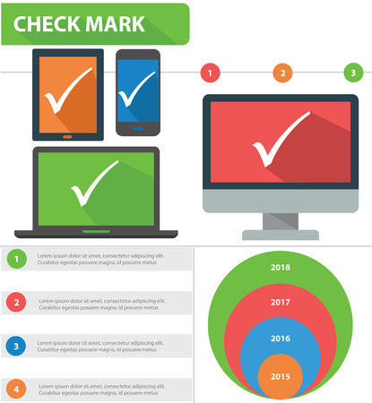Check mark concept info graphics,vector Vector