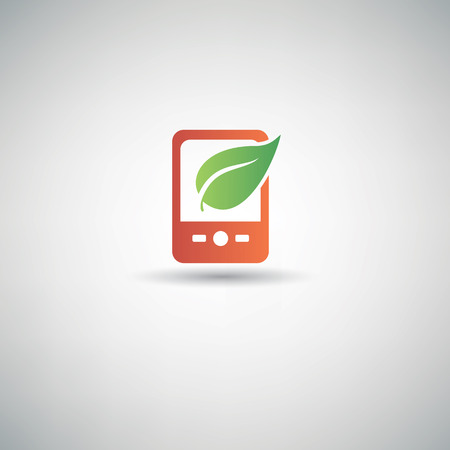 application recycle: Nature mobile symbol,vector Illustration