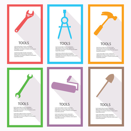 Tools Banners,vector Vector