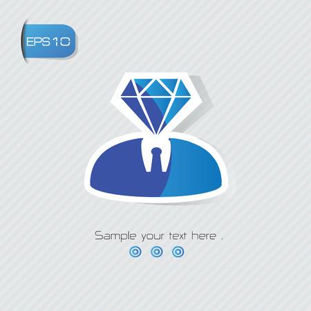 Diamond human symbol,vector Vector