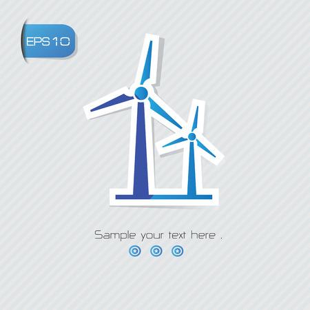 abstract mill: Wind turbine symbol,vector