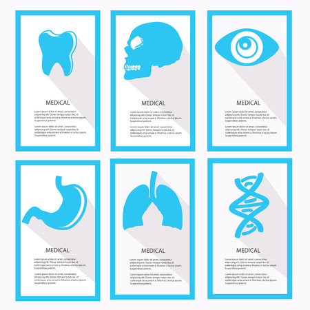 Medical banners,Blue vector Vector