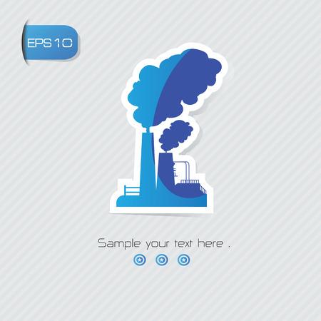 distill: Pollution symbol,vector Illustration