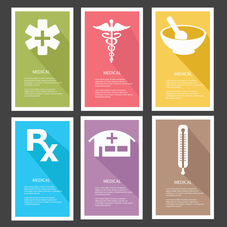 Medical banners,vector Vector