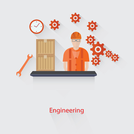 engineering concept: Engineering concept,vector Illustration