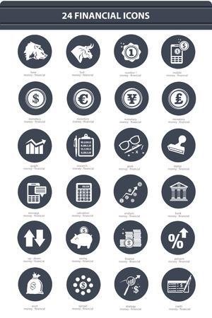Finance   Stock exchange icons,black version,vector Vector