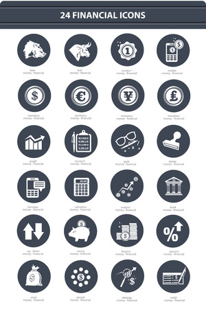bank note: Finance   Stock exchange icons,black version,vector