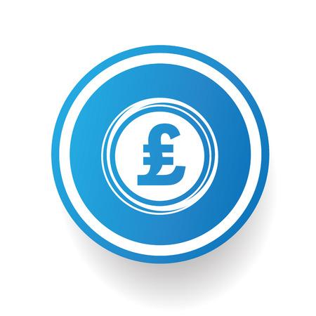 pounds: Pounds button,vector