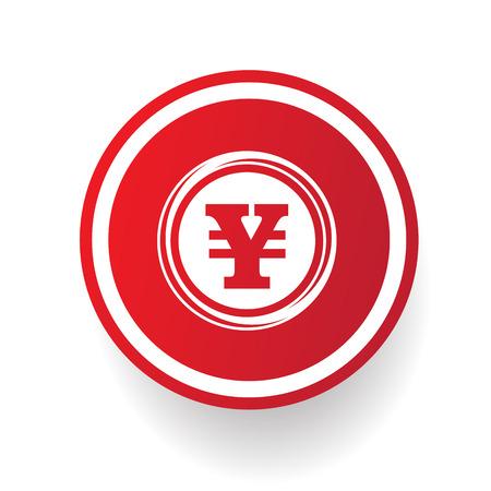 cash cycle: Yen button,vector