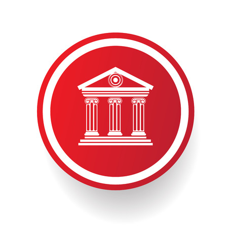 Bank button,vector Vector