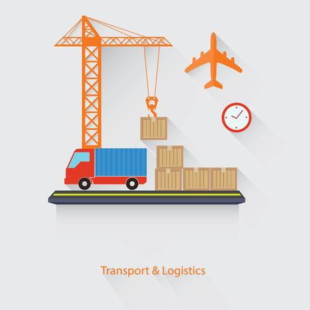 ions: Transport and Logistics concept,vector Illustration