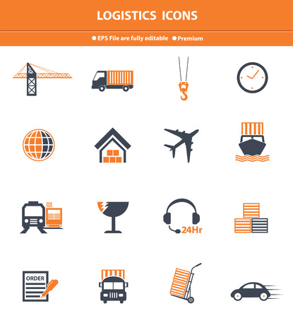 Logistics orange icons,vector Vector