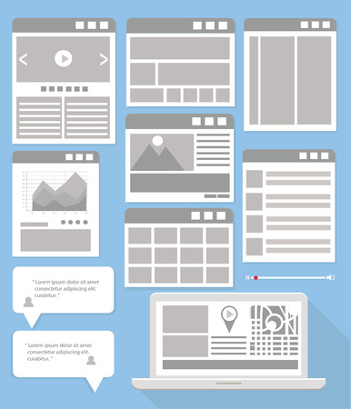 Website Flowcharts and Site Maps,fray version Vector