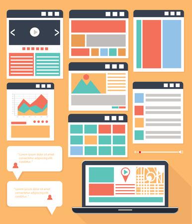 nav: Website Flowcharts and Site Maps,colorful version Illustration