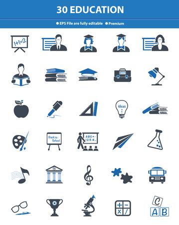 Education icons,blue version Stock Photo - 27787858