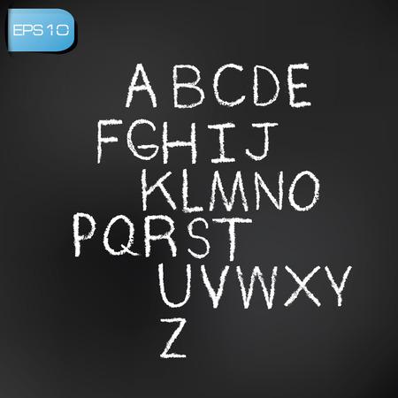 Alphabet white version. photo