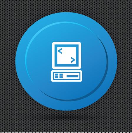 button computer: Bot�n del ordenador. Foto de archivo