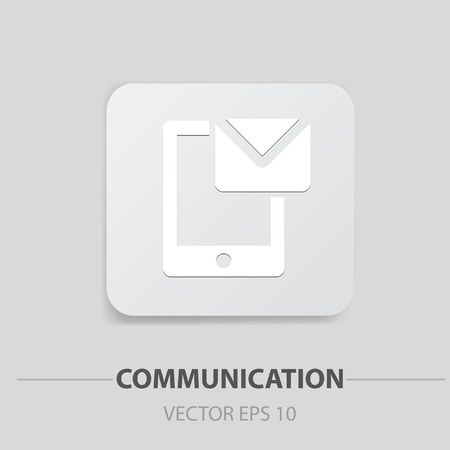 Mobile message buttonclean vector photo