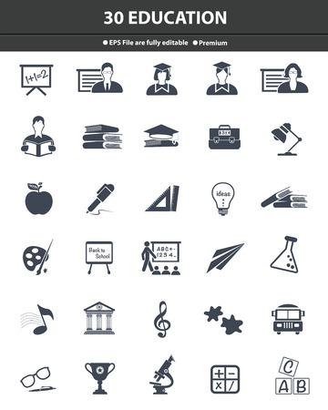 Education icons,dark version,vector Stock Photo - 27777966