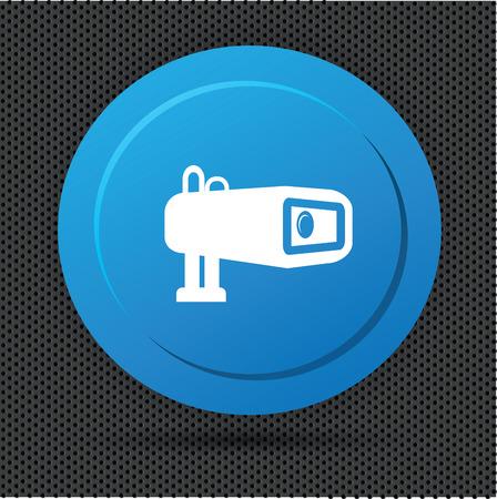 paranoia: Camera Security buttonclean vector