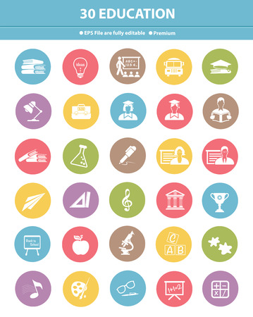 Education icons,colorful version,vector photo