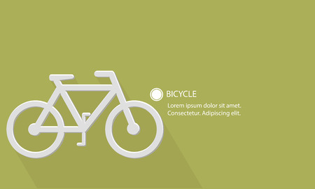 Bicycle,Transport concept,Blank for text,vector Vector