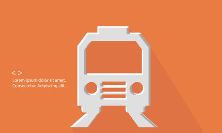 Train,Transport concept,Blank for text,vector Vector